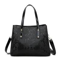 classic serpentine women handbags high quality pu leather shoulder messenger bag large capacity ladies purse and handbag