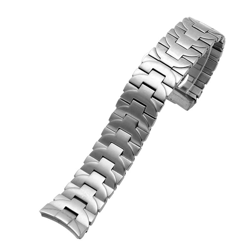 Pulseira de Aço Superior de Luxo Preta para Pam Inoxidável Relógios Masculinos Marca Cinta 111 Aço Borboleta Fivela 24mm