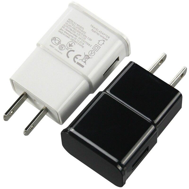 5V 2A 1A ue prise américaine AC maison voyage adaptateur dalimentation unique USB chargeur mural pour iPhone 11X7 8 Samsung S10 LG tablette de téléphone portable