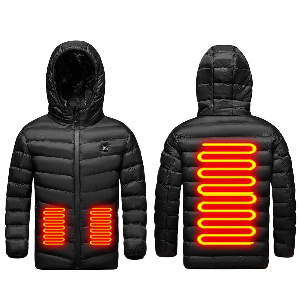 سترة ساخنة للأطفال الأطفال USB شحن سترة الشتاء سترة ساخنة التدفئة الدافئة الملابس قابل للغسل البوليستر لينة سترة
