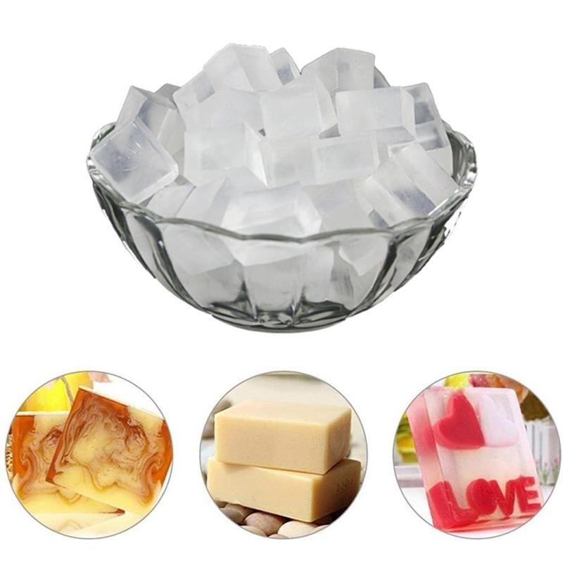 Jabón transparente hecho a mano, Base Natural para el cuidado de la...