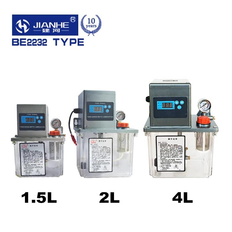 Sistema de lubricación central tipo BE2232 con 13 puntos de lubricación, bomba de lubricación de grasa para máquina CNC