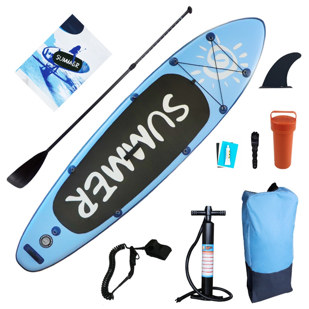300*80*15cm Inflatable Surfboard Stand-Up Paddle Board Surfing Portable Surfboard Leak-Proof Valve Paddle Board Surfboard