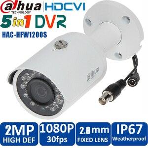 Original dahua1080p CVI Camera 2MP DH-HAC-HFW1200S HDCVI IR Bullet Security Camera CCTV IR distance 30m HAC-HFW1200S