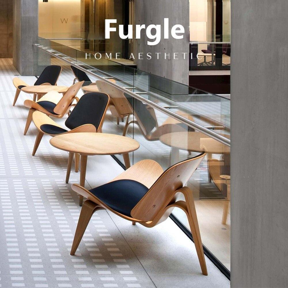 Furgle 7 أيام التسليم طبق الاصل شل كرسي منتصف القرن الطعام كرسي مع Polywood صالة كرسي الرماد/الجوز/باليساندر الكراسي الجانبية