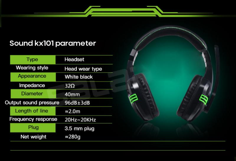 Salar KX101 3.5mm Computer Headset Wired Headphone Heavy Bass Gaming Headset With Microphone Portable Audio Video Headphones enlarge