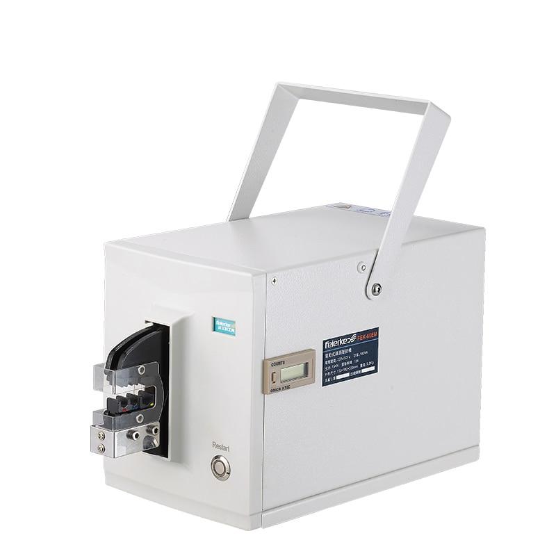 Электрический end класса (проволока проходит по всей станки FEK-60EM линия плоскогубцы Электрический концевой обжим машина 110/220V