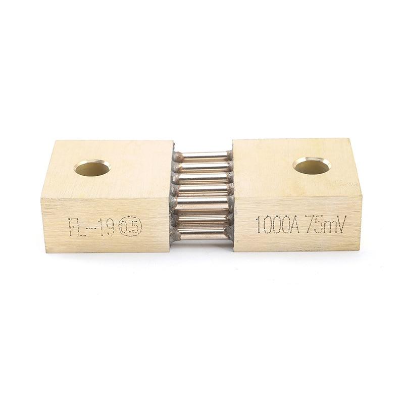 1 Uds. FL-19B derivación 1000A 75mV máquina de soldadura de latón Resistor CC Shunts para medidor de Panel analógico de corriente
