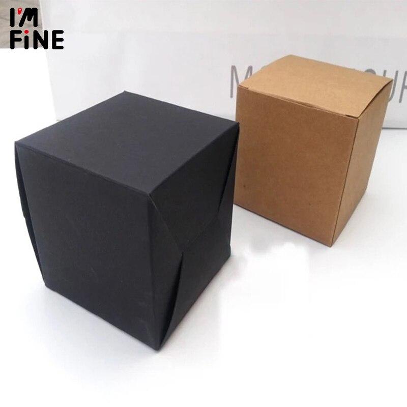 100 teile/los Blank Weiß Schwarz Kraft Papier Box Für Gesicht Creme Kosmetische Jar Schmuck Lagerung Geschenk Boxen ventil rohre Verpackung