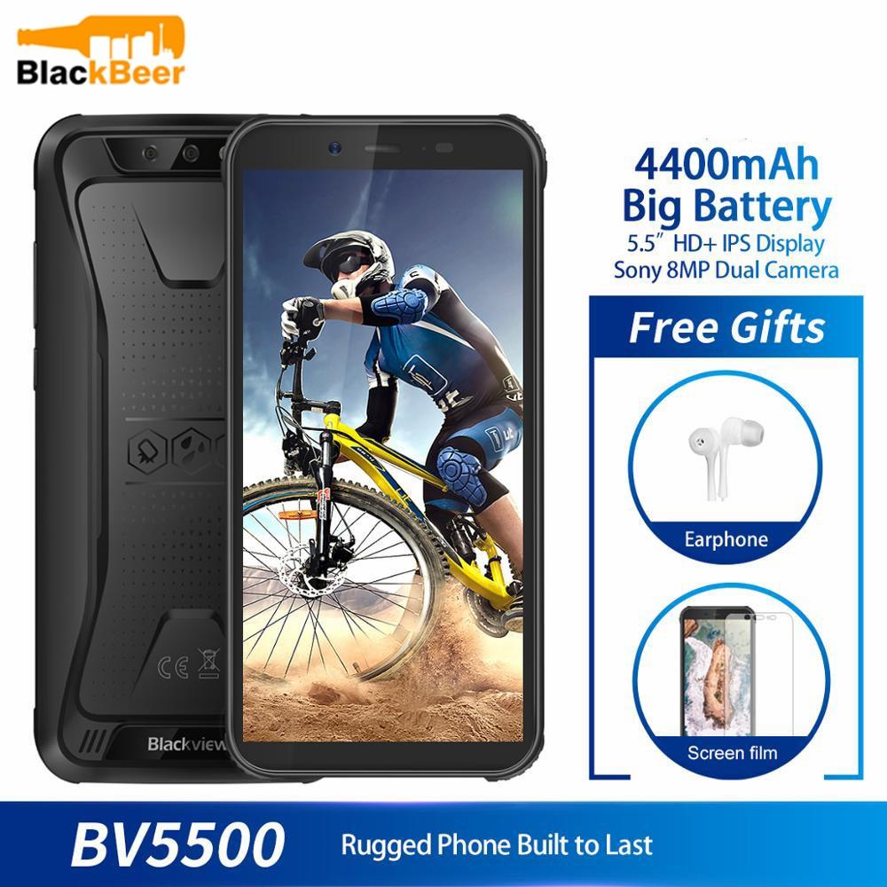 Blackview-teléfono inteligente BV5500, teléfono móvil Original resistente al agua IP68, pantalla de 5,5 pulgadas, 2GB RAM, 16GB rom, Android 8,1 so, batería de 4400mAh, dual-sim 189, teléfono móvil