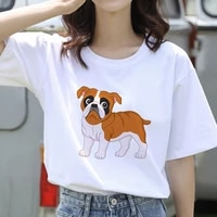 2021 fashion women t shirt short sleeve cute dogs print summer o neck 90s clothes girl lady casual t shirts oversize clothing