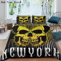 beauty skull bedding set printed duvet cover single double queen king size kids adult comforter quilt cover pillowcase no sheets