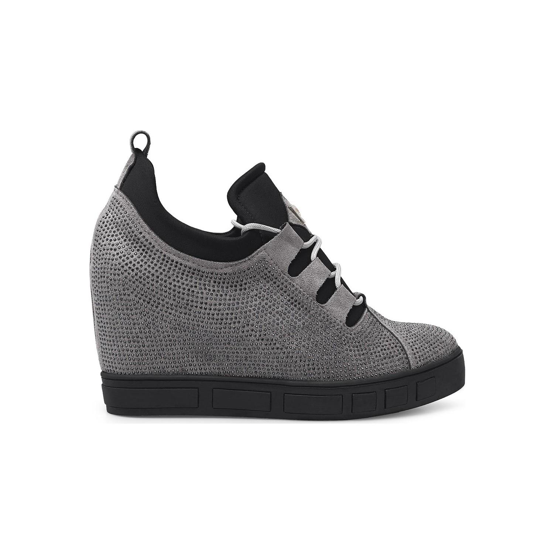 بيير كاردين المخفية الكعوب أحذية من جلد الغزال الأحذية النسائية Pc