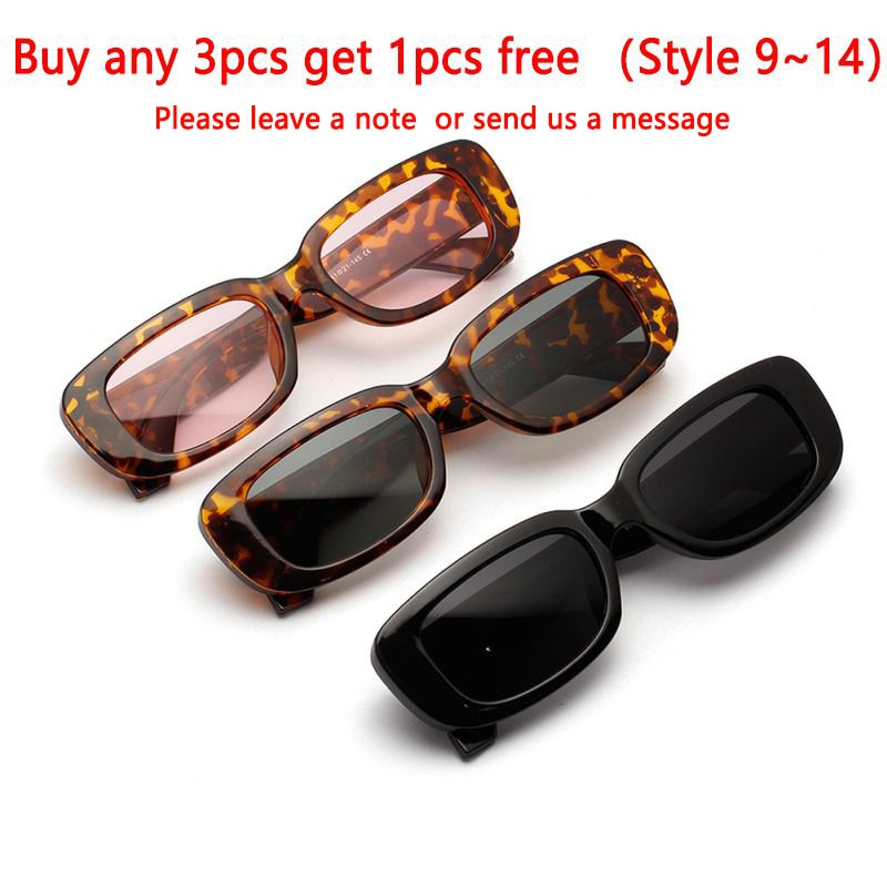 2020 Travel Vintage Square Sun Glasses Women Retro Sunglasses Luxury Brand Rectangle Men Women Sun G
