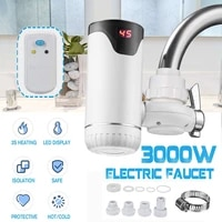 3s fast heating electric hot water heater faucet kitchen instant heating tap water heater with led display leakage protector