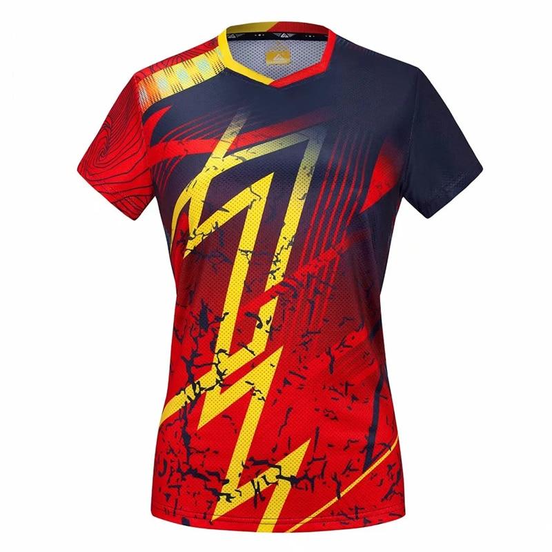New Sports Clothes Badminton Wear Shirts Quick Dry Sportswear Women Golf Table Tennis Shirt Table Tennis Uniforms Jersey