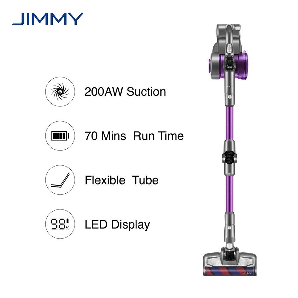 JIMMY JV85 Pro aspirateur à main sans fil 200AW puissant aspiration Flexible Tube métallique 70 minutes temps dexécution dépoussiéreur