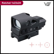 Optique vectorielle cliquet 1x23x34 tactique point rouge vue 4 réticule chasse portée lumière et compacte QD 21mm monture Base pour le tir