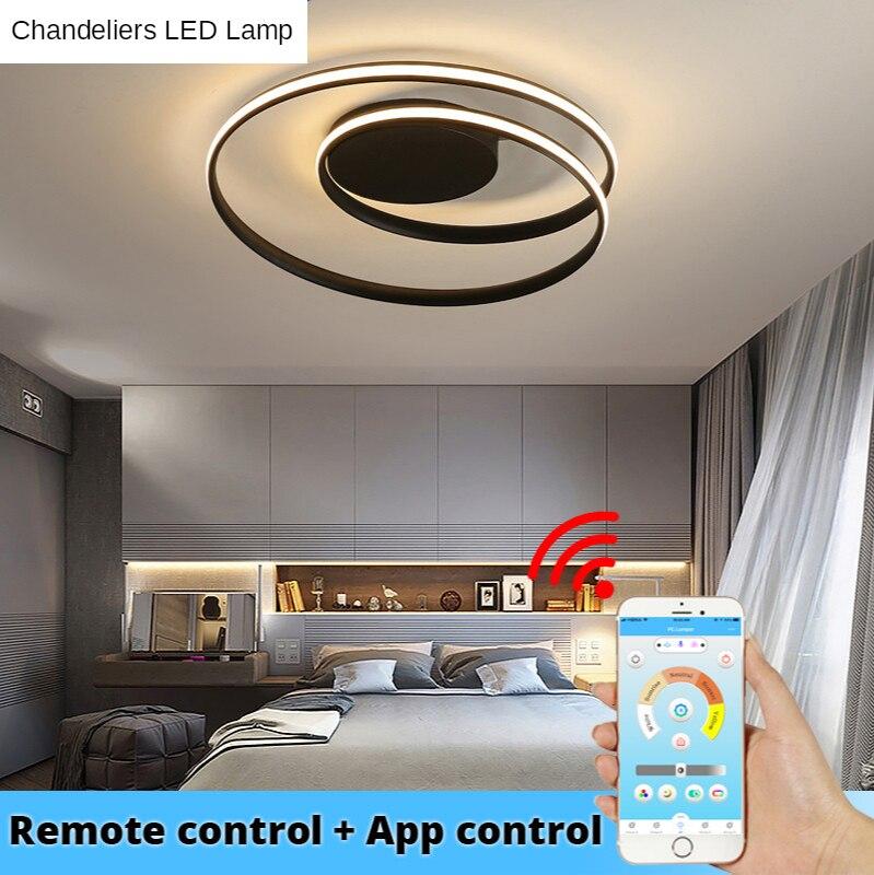 Современные Люстры светодиодный светильник для Гостиная Спальня Кабинет белый черный Цвет поверхности Обеденная FurnitureDeco AC85-265V