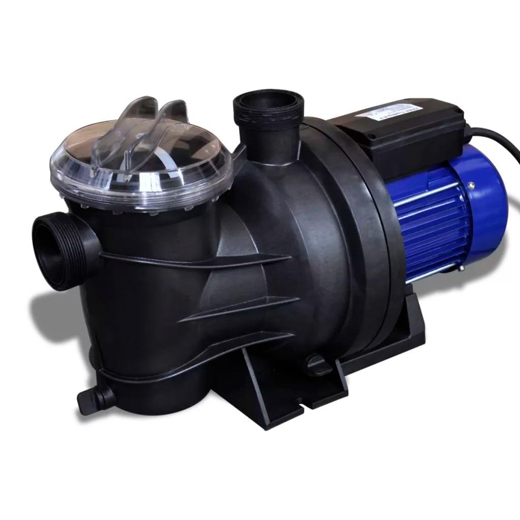 VidaXL Electric Swimming Pool Pump 800 W Blue 90466 55 X 25 X 23.5 Cm Powerful Motor Reinforced Thermoplastic Housing Pump V3