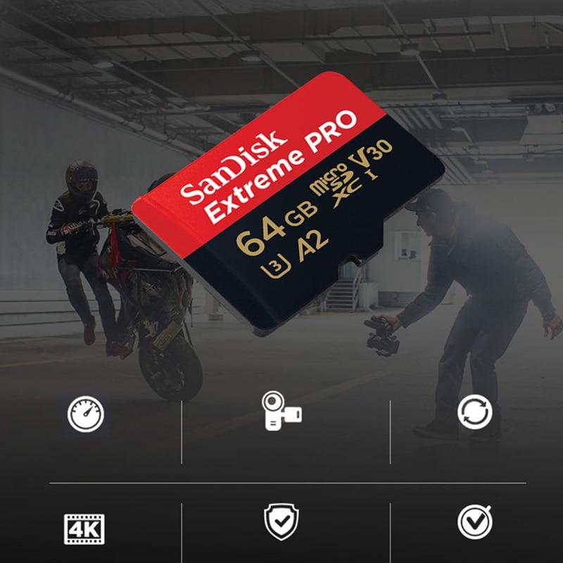 SanDisk Extreme PRO microsd 64GB UHS-I Memory Card 128GB micro SD Card 64GB TF Card 170MB/s Class10 U3 V30 A2 Memory Card TF enlarge