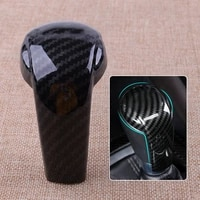 1pcs gear shift knob cover accessories car carbon fiber black for mazda cx 5 2017 2021