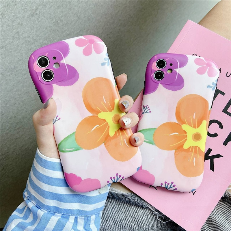 Case For iPhone11 small waist mobile phone case X suitable for XR XSmax bright surface 8 silicone SE fine hole 11 Pro  - buy with discount