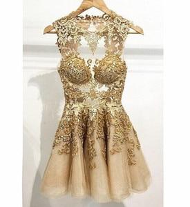 Prom Cocktail Homecoming Evening Dresses 2020 Woman's Party Night Celebrity Formal Dresses Plus Size Short Dubai Arabic Dress