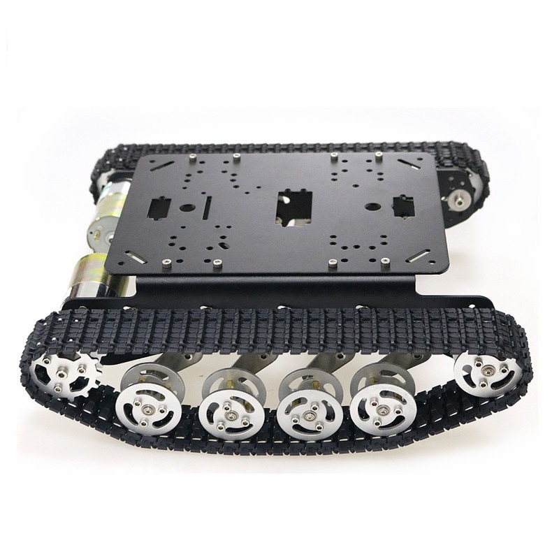 DOIT TS100 Metal Rc Robot Tank Car Chassis Shock Absorption Car With Suspension System Crawler Caterpillar for Arduino DIY Toy enlarge
