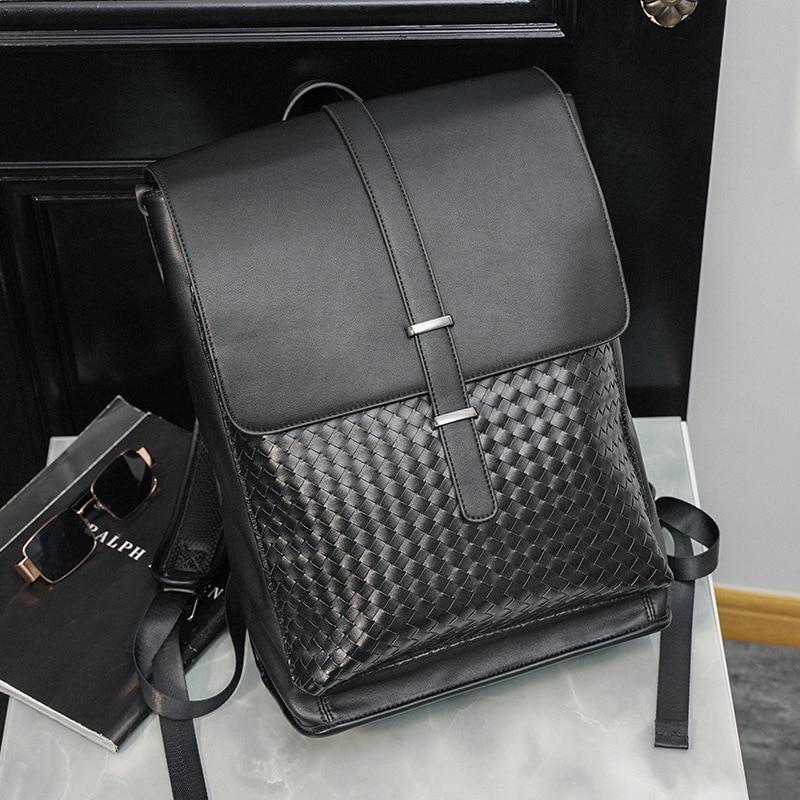 Vinatge ظهره الرجال مصمم الازياء الرجال حقائب الظهر سعة كبيرة بولي Leather الجلود طالب حقيبة مدرسية محمول على ظهره 2021 جديد