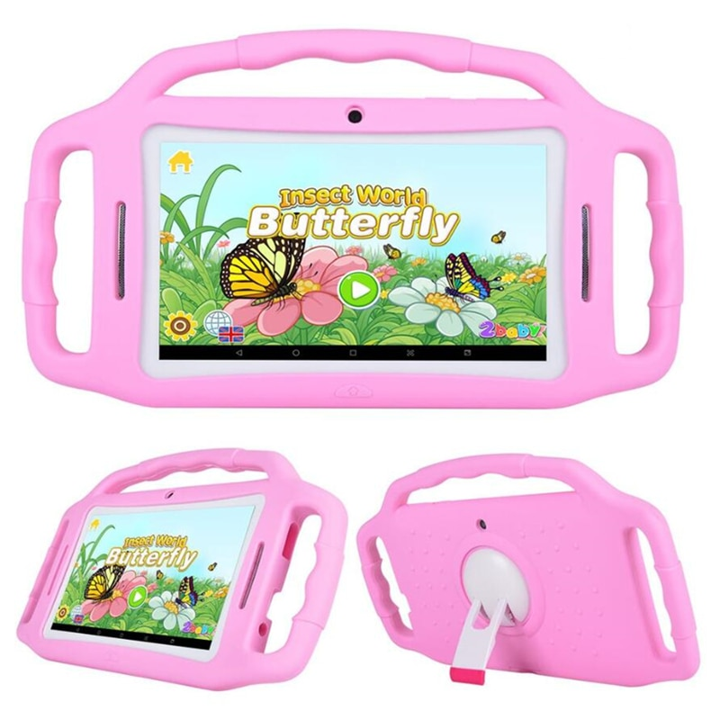 Black Friday Sales Free Bracket Silicone Case M755 Kid Play Tablet Android 7.1.2 RK3126 Quad-Core DDR31GB+8GB DualCamera WIFI
