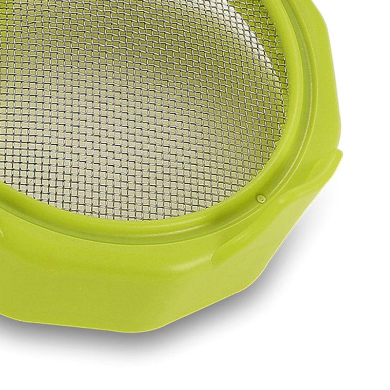 Tapa de brotes de plástico criba de acero inoxidable para jarras de brotes de albañil de boca ancha T8WB