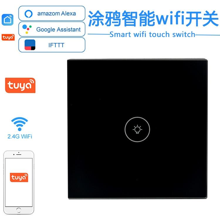 wl irc wifi universal remote control smart remote house control voice smart remote intelligent control TUYA WiFi Smart Touch Switch No Neutral Remote Voice Control Intelligent WIFI  Wall  For Alexa Google Home