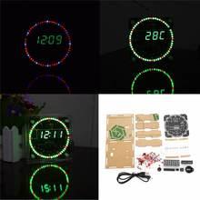 Yükseltme DIY EC1515B DS1302 ışık kontrolü rotasyon LED elektronik saat kiti diy gece lambası yılbaşı dekoru 51 SCM öğrenme kartı