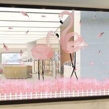 Stickers muraux en verre flamand rose   Bricolage, Stickers muraux doiseaux pour décoration intérieure, vitrine dexposition de magasin