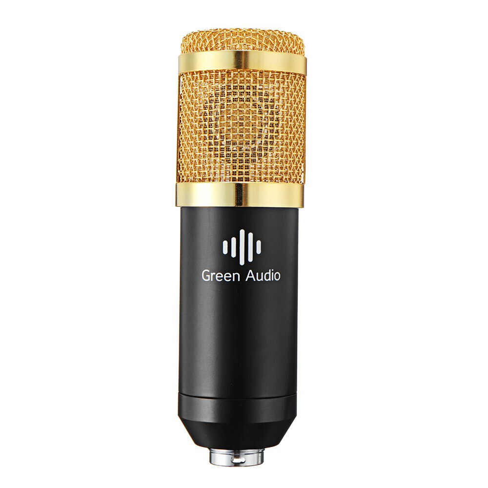 GAM-800 Green Audio Condenser Microphone Kit for Karaoke with GAX-V9 Bluetooth Audio Mixer Sound Card enlarge