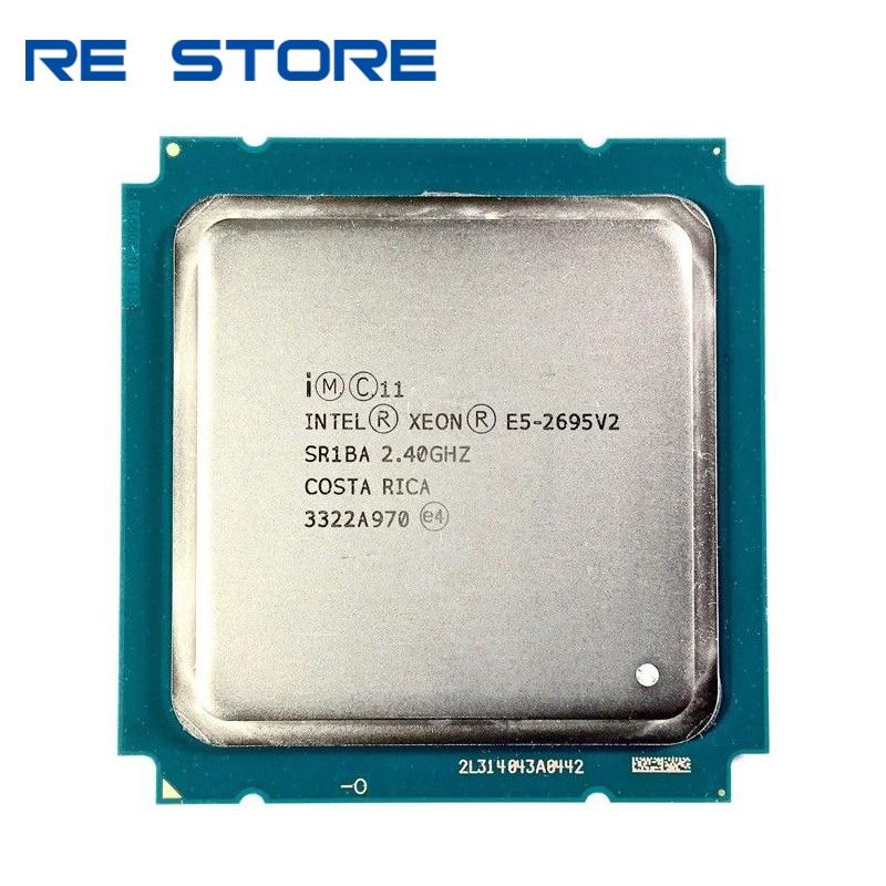 Processador central do processador do servidor do sr1ba e5 2695v2 usado intel xeon e5 2695 v2 2.40ghz 30mb 12-core 115w lga 2011