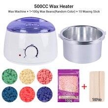 La cera di depilazione fonde il Kit della macchina riscaldatore di cera depilatoria del vaso 500CC Mini riscaldatore di cera messo con i fagioli di cera 100g o 200g