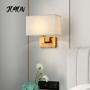 Modern Fabric Wall Lights Cloth Lamp Stair Hotel Corridor Living Room Bedroom Aisle Bedside Lighting Simplicity Wall Sconce Gold