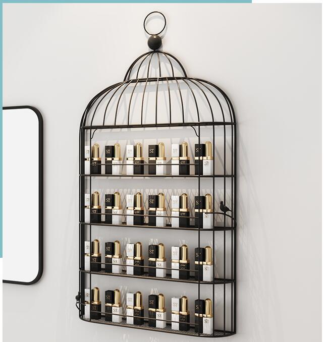 Expositor de uñas nórdico, estante de pared, colgadores de pared, mascarilla cosmética, gel de esmalte de uñas, estante de exposición, estante para esmalte de uñas