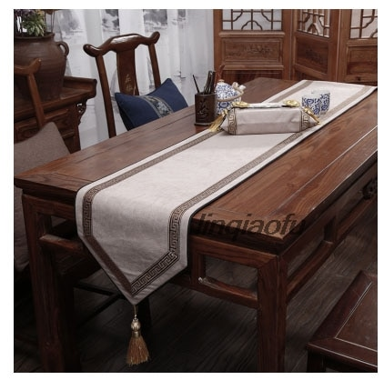 مفرش طاولة ياباني ، مفرش طاولة ، قماش كتان ، علم ، قطن ، كلاسيكي
