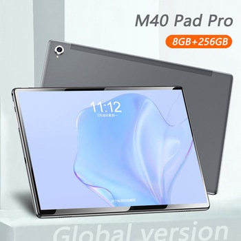 2021 M40 Pro Android Tablet 10INCH 8GB RAM 256GB ROM Tablet Android 10 10Core 5G WiFi Bluetooth GPS 8800mAh Battery Tablet PC