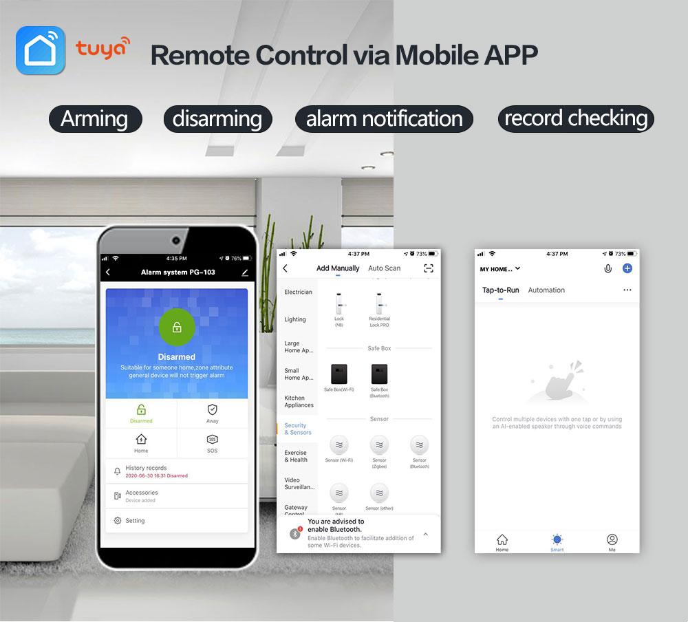 Alarm Systems Security Home Wifi GSM 4G Tuya Wireless smart home Burglar Security Kit work with Alexa enlarge
