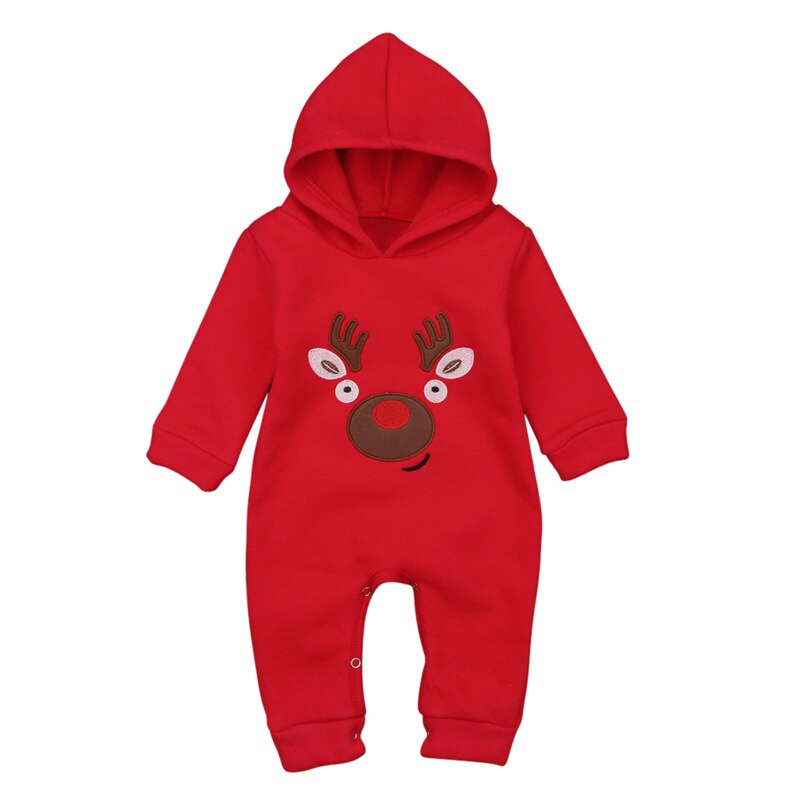 Newborn Toddler Infant Baby Boy Girl hooded Romper Long Sleeve Jumpsuit Casual Cotton Christmas Clothes Spring Winter Outfits cotton newborn baby girl romper ruffle sleeve baby rompers winter baby girls clothes toddler girl romper infant jumpsuit p35