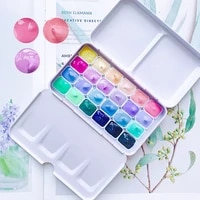 tin box portable mini watercolor 24 colors1ml candy color watercolor paint box paint beginner macaron set art supplies