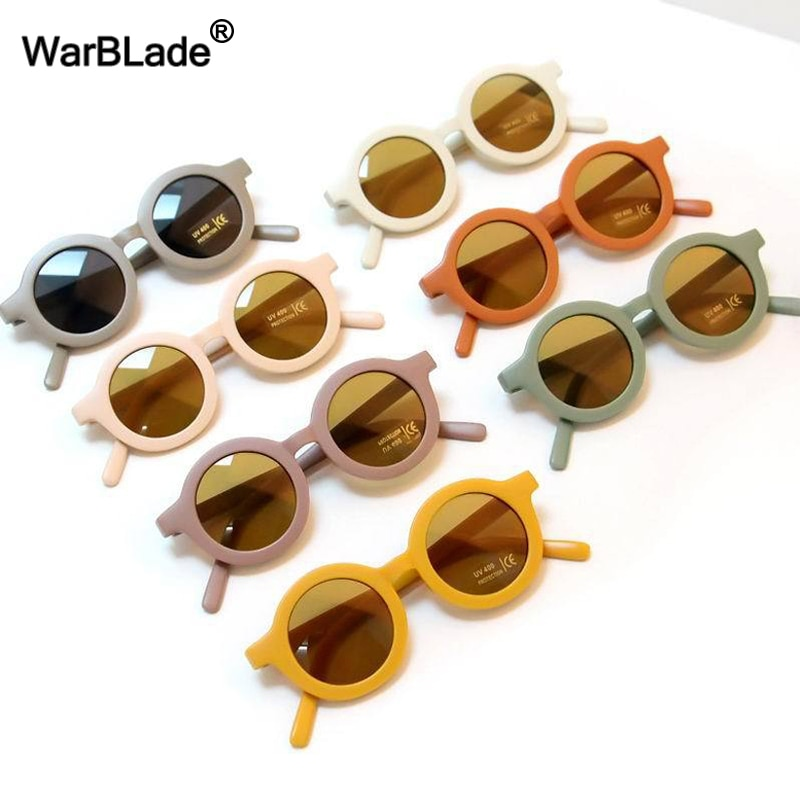 WarBLade Small Round Kids Sunglasses Fashion Boy Girls Vintage Sun Glasses UV400 Protection Children
