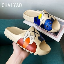 Four Season Girls Boys Baby Slippers Mini Beach Designer Fur Slides Sandal Flat Pool Water Shoes EVA