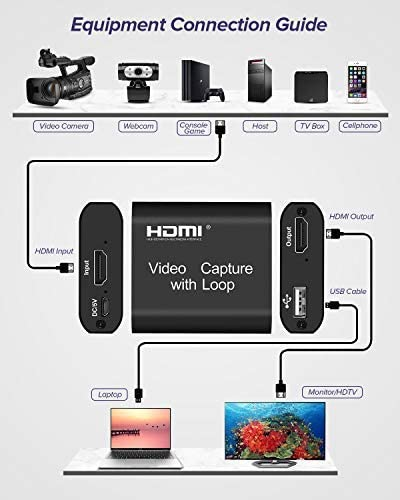 4K Video Capture Card Device with Loop Out USB 2.0 Game Capture for Live Streaming Video Recorder Converter for PS3 PS4 Xbox enlarge