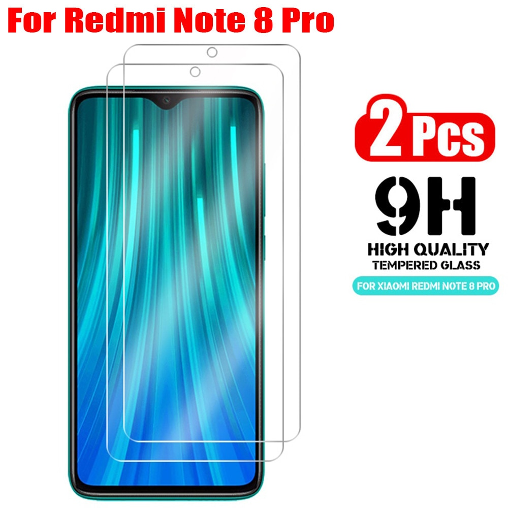 Фото - 2Pcs 9H Tempered Glass For Xiaomi Redmi Note 8 Pro 8T 7 5 8A 7A Screen Protector Note 5 6 Pro  Glass On Redmi Note 7 8 Pro Glass защитное стекло glass 0 3mm 9h для xiaomi redmi note 5 белый