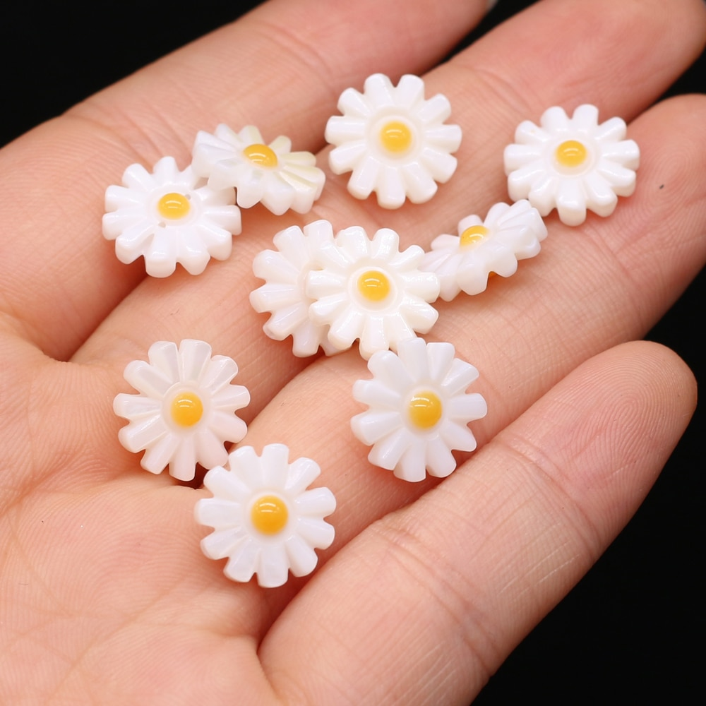 Hot Sale Wholesale 5pcs Natural Freshwater Shell Loose Beads Women Sun Flower Shell Beads Charms Fit Making Jewerly Accessories недорого